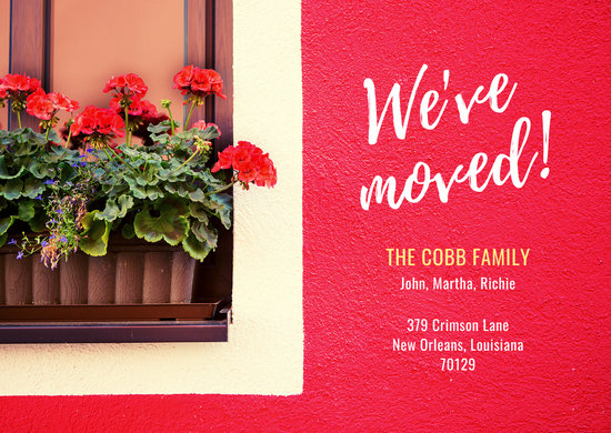 Red Wall Change of Address Card