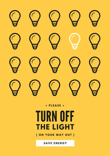 Lightbulbs Save Energy Campaign Poster