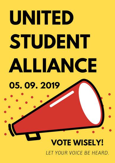 Megaphone Student Council Poster