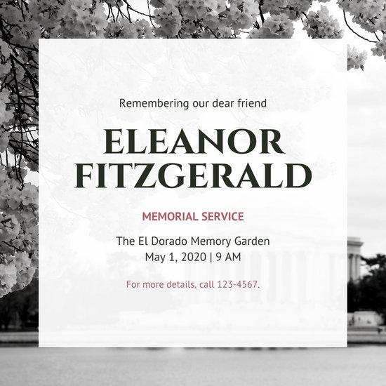 Nordic Photo Memorial Invitation