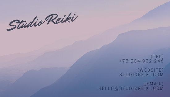Purple Modern Reiki Business Card
