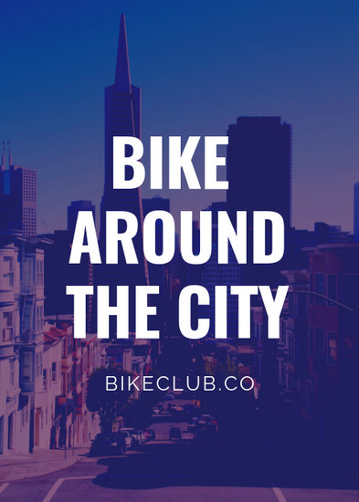 Tinted Bike Rental City Flyer