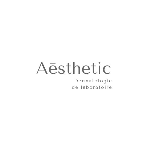 White and Grey Modern Aēsthetic Beauty Logo
