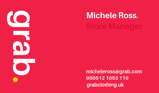 Eye-Catching Store Manager Business Card