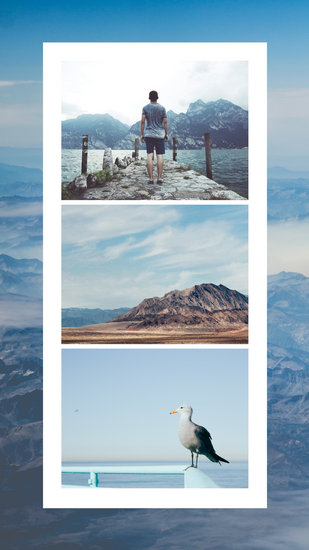 Blue Collage Travel Vacation Your Story