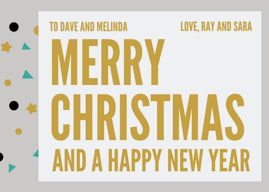 Bold Typography Christmas Card