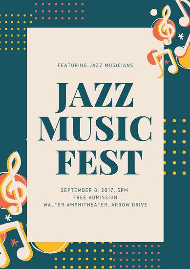 Jazz Music Fest Poster