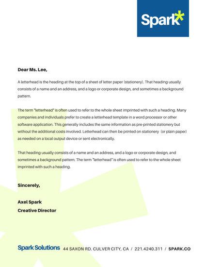 Corporate Company Business Letterhead