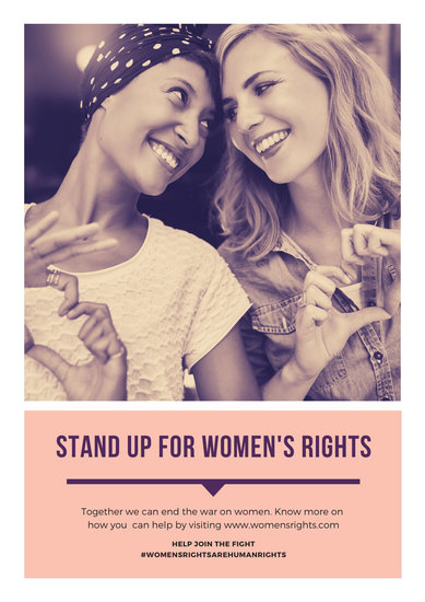 Peach Photo Women's Rights Poster