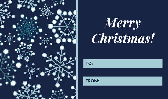 Blue Snowflake Christmas Tag