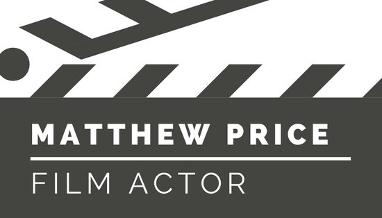 Dark Gray and White Clapperboard Artist Business Card