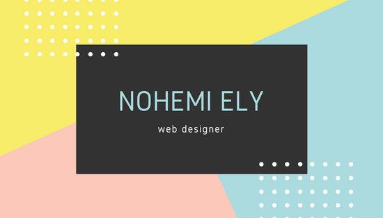 Pastel Modern Web Designer Business Card