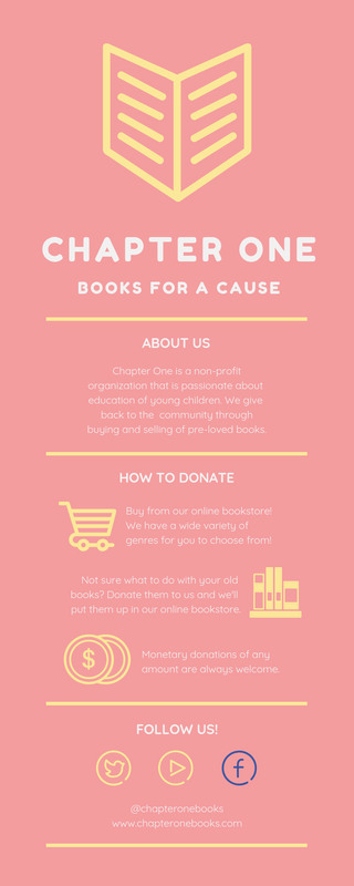 Pastel Books For a Cause Charity Infographic