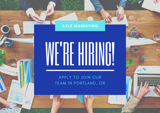 Blue Now Hiring Company Direct Mail General Postcard