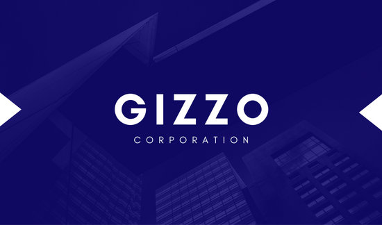 Blue Building Corporate Business Card