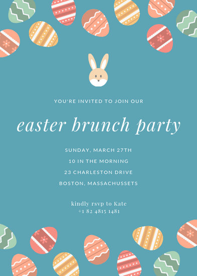 Easter Eggs Brunch Party Flyer