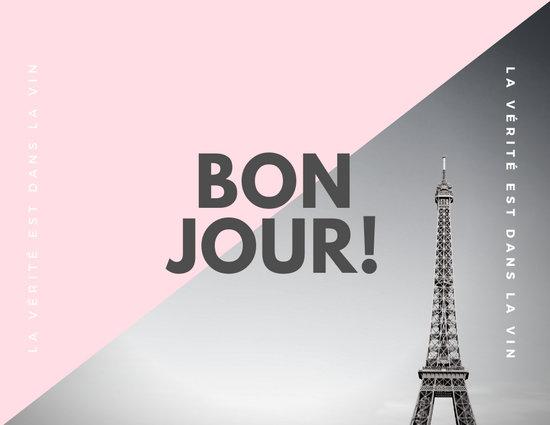 Monochrome Eiffel Tower French Postcard