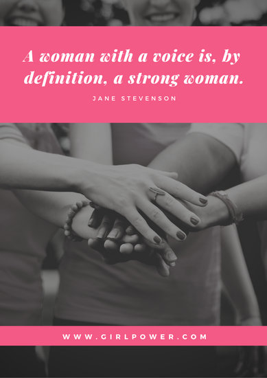 Pink Overlay Quotes Women's Rights Poster