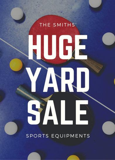 White Sports Equipment Yard Sale Flyer