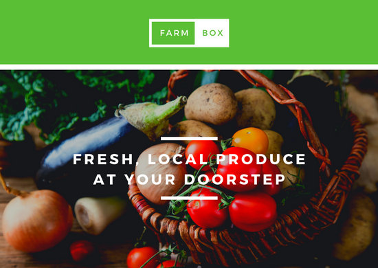 Fresh Produce Delivery Business Postcard