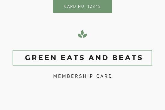 Green & White Minimalist Modern ID Membership Card