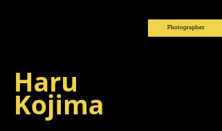 Black and Yellow Minimalist Photographic Business Card
