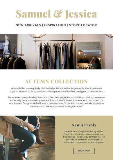 Beige Minimalist Fashion Photo Email Newsletter