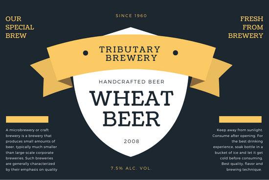 Blue Banner Beer Label