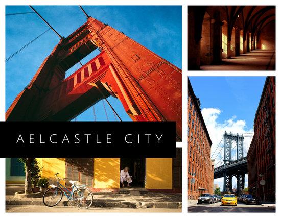 Simple Photo Collage City Postcard