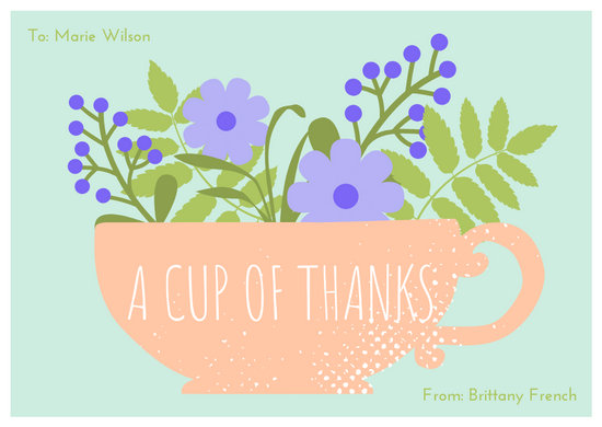 Floral Tea Party Card