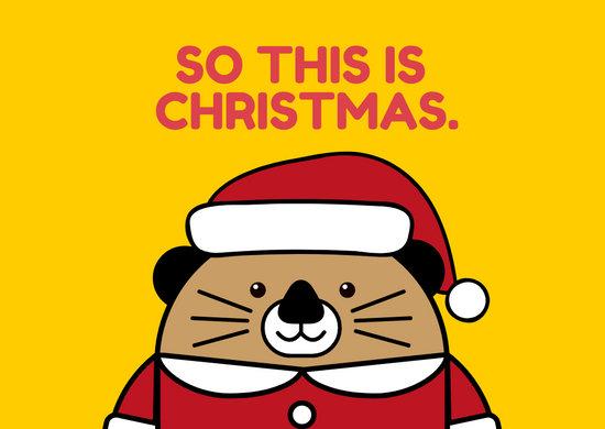 Christmas Otter Greeting Card