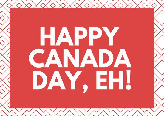 Red and White Simple Pattern Canada Day Greeting Card