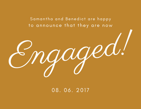 Engagement Announcement Postcard