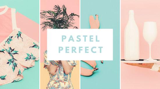 Pastel Collage Desktop Wallpaper