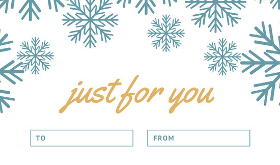 White and Blue Snowflake Christmas Tag