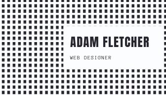 Black and White Square Web Designer Business Card