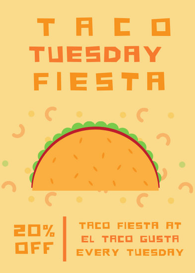 Taco Tuesday Party Flyer