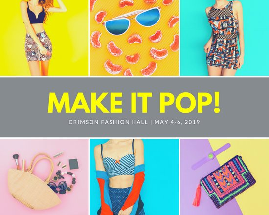 Pink and Yellow Pop Fashion Photo Collage
