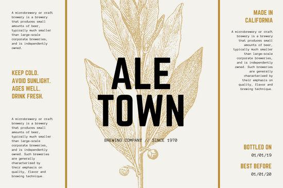Brown Bay Laurel Beer Label