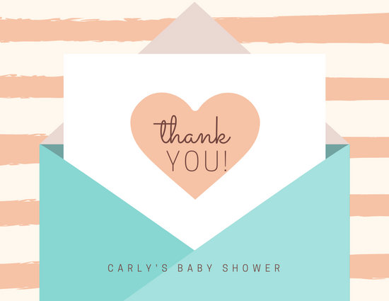 Pastel Envelope Baby Shower Thank You Card