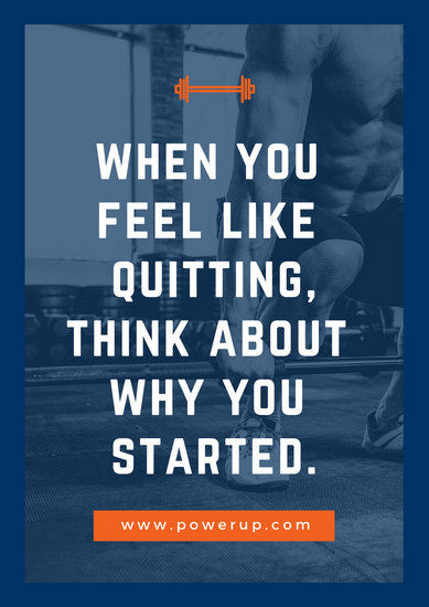 Orange Blue Motivation Gym Poster