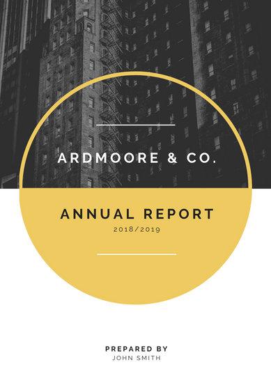 Gold & White Modern Company Corporate Annual Report