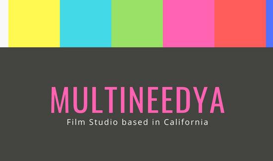 Modern Color Bars Filmmaker Business Card