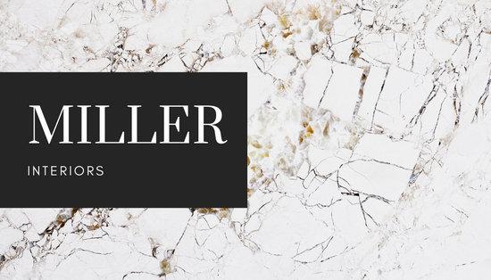 Modern Granite Interior Design Business Card
