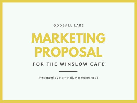 Yellow and White Photo Marketing Proposal Presentation