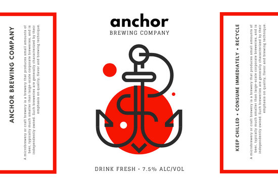 Red and Black Icon Beer Label