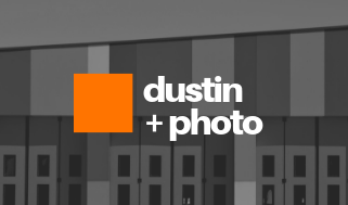 Orange with Grayscale Photo Photographic Business Card