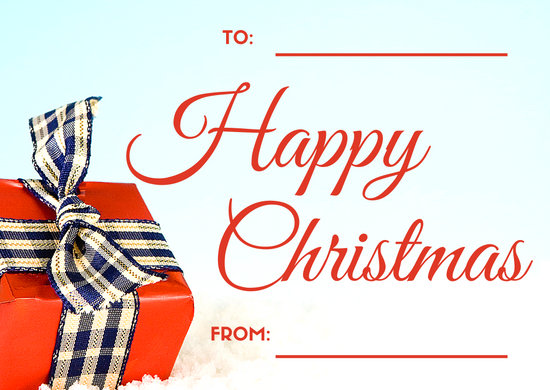 Wrapped Gift Christmas Greeting Card