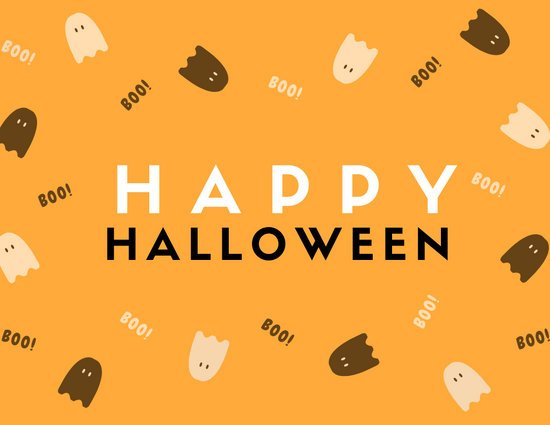 Yellow Ghost Icon Halloween Greeting Card