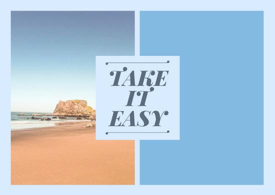Blue Paradise Text Picture Postcard